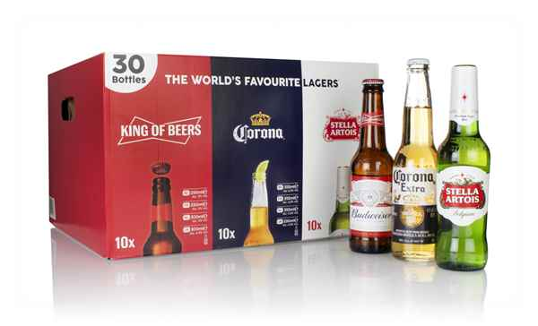 World's Favourite Lagers Case (10 x 300ml, 10 x 330ml, 10 x 330ml)