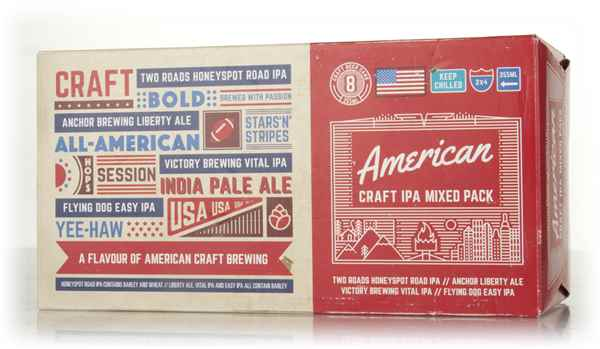 American craft ipa gift pack beer master of malt for Craft beer gift set