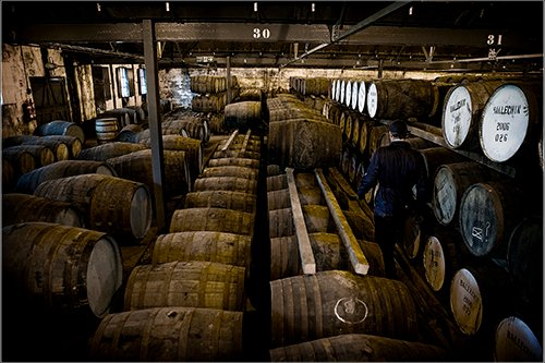 BenRiach distillery warehouse