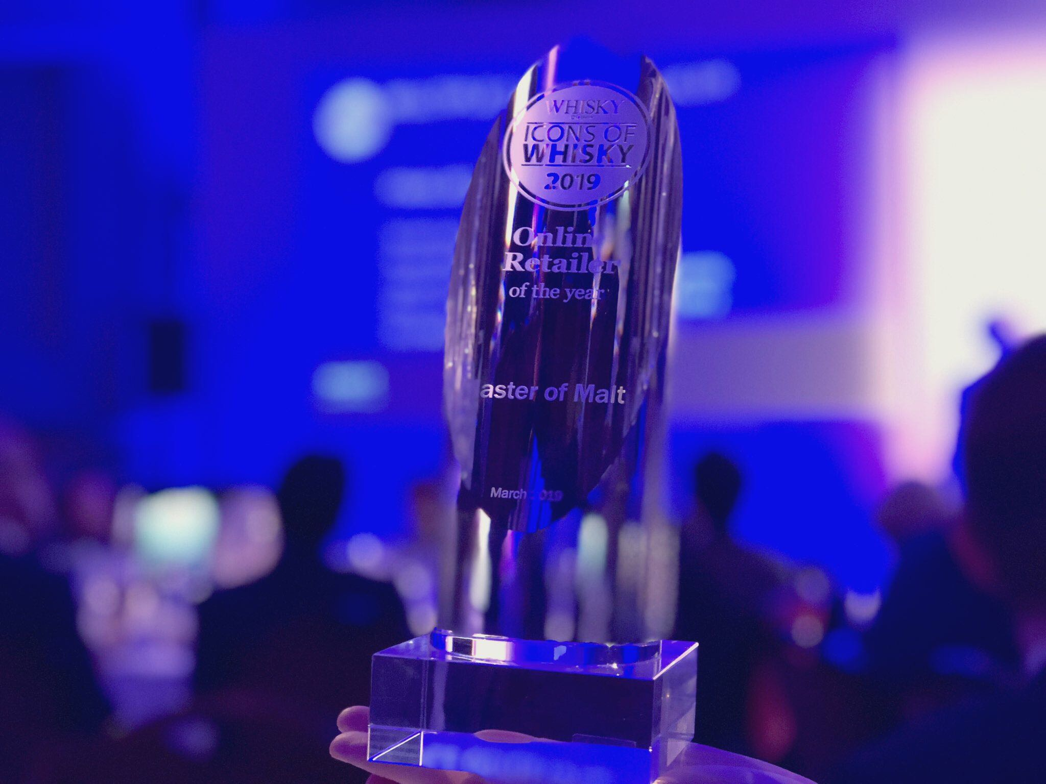 Icons of Whisky Online Retailer of the Year trophy