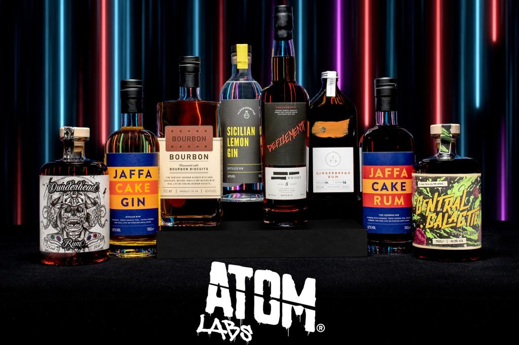 Look at all this booze you can win thanks to Atom Labs!