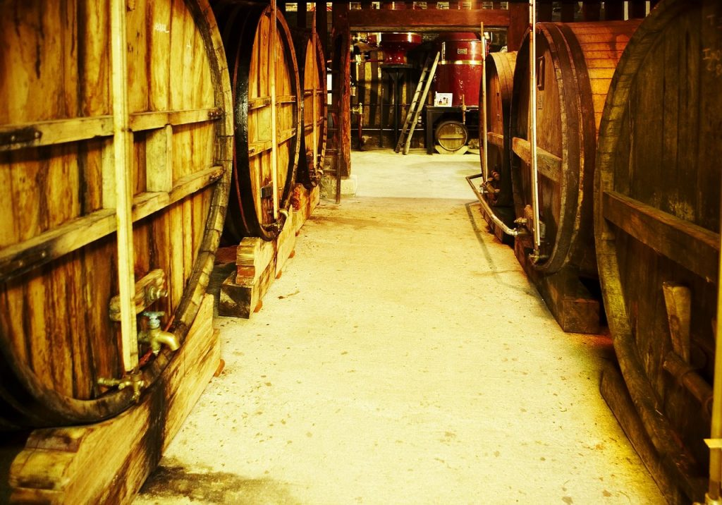 Old casks at Christian Drouin