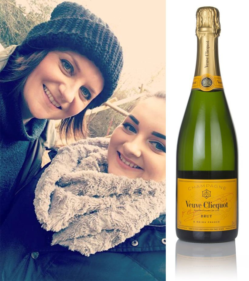 Abbie and her mum will toast Mother's Day with Veuve Clicquot Brut Yellow Label