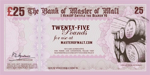 Master of Malt Gift Vouchers