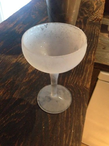 Master of Cocktails frozen Martini glass