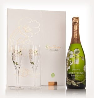 Perrier-Jouët 2004 Belle Epoque Brut with 2 Champagne Flutes
