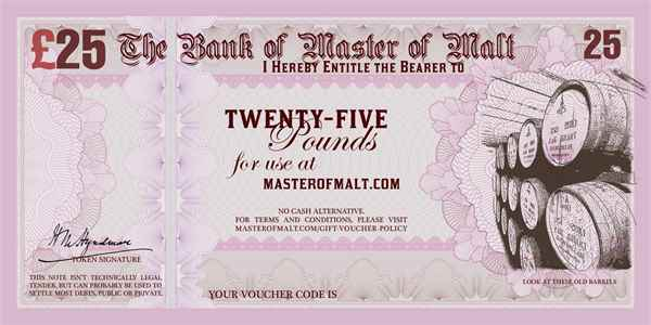 £25 Master of Malt Gift Voucher