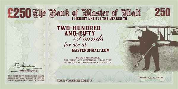 £250 Master of Malt Gift Voucher
