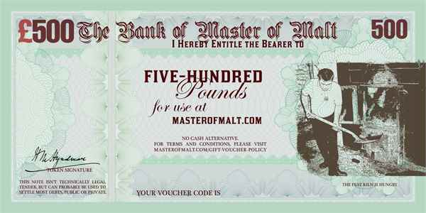 £500 Master of Malt Gift Voucher