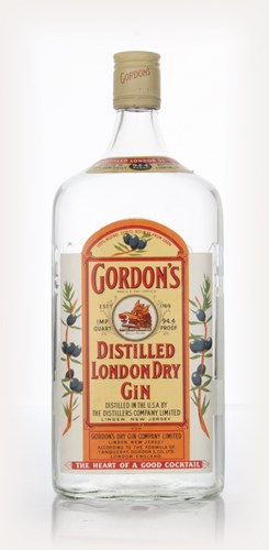 Gordon's Dry Gin - 1970s (Quart)