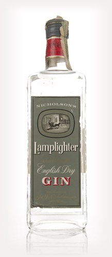 Nicholson's Lamplighter Dry Gin - 1960s