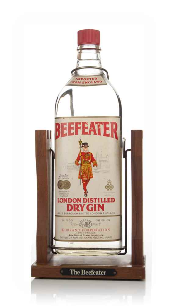 Beefeater London Dry Gin With Pouring Cradle - Late 1970s