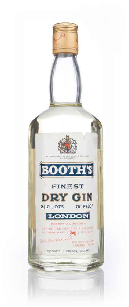 Booth's Finest London Dry Gin - 1966