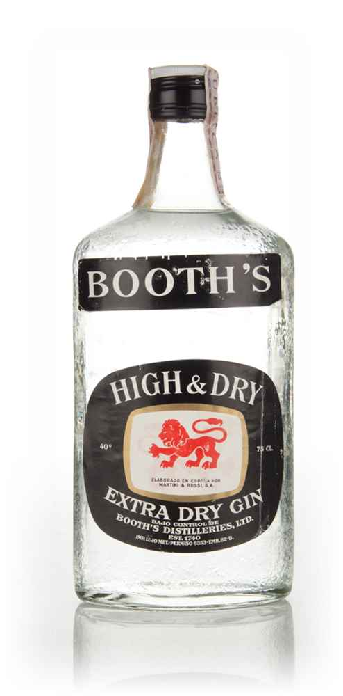 Booth's High & Dry Gin - 1970s