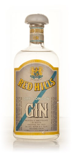 Red Hills Dry London Gin - 1950s