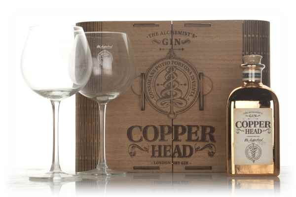 Copperhead Luxe Box Gift Pack with 2x Glasses