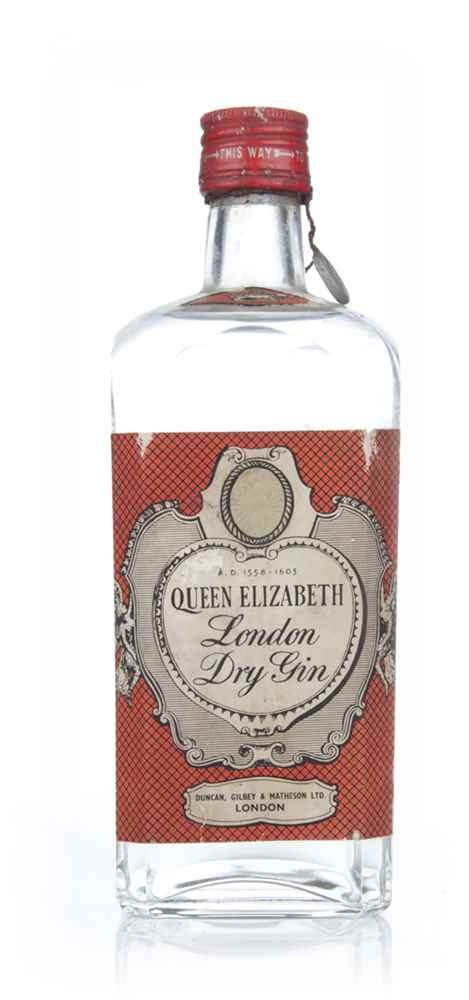 Duncan, Gilbey & Matheson's Queen Elizabeth London Dry Gin - 1949-59