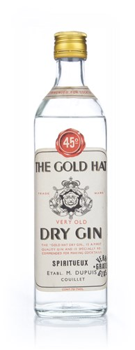 The Gold Hat Very Old Dry Gin - 1960s