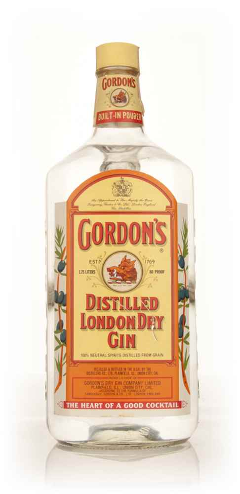 Gordon's London Dry Gin 1.75l - early 1970s