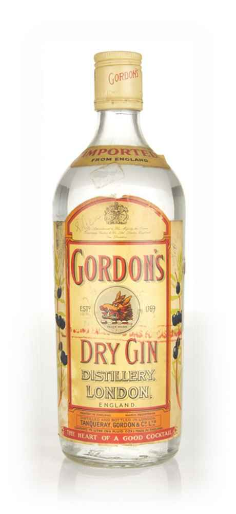 Gordon's London Dry Gin - 1960s