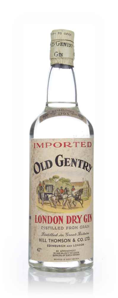 Old Gentry London Dry Gin - 1960s