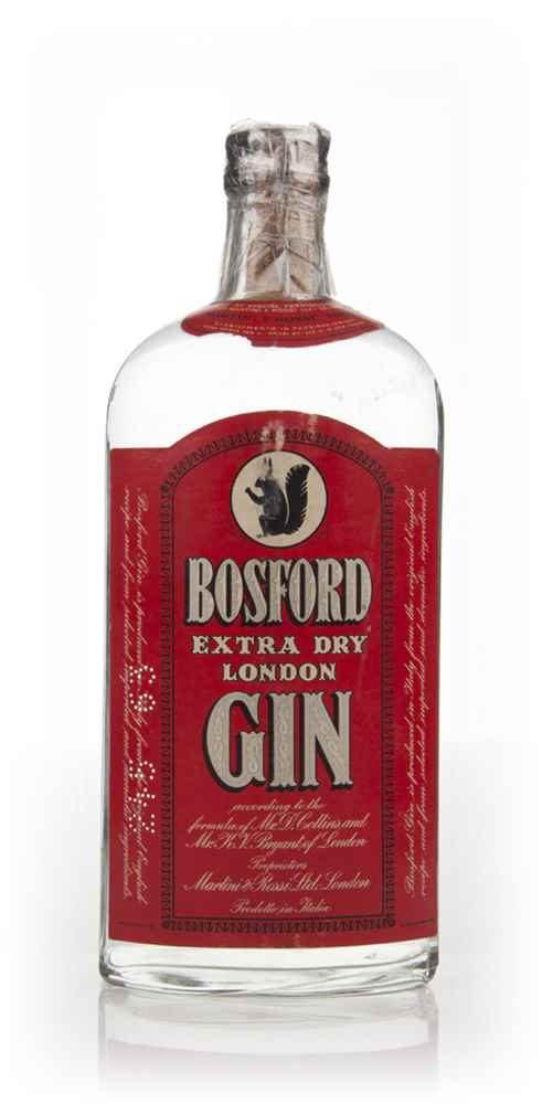 Martini & Rossi Bosford Extra Dry Gin - 1960s