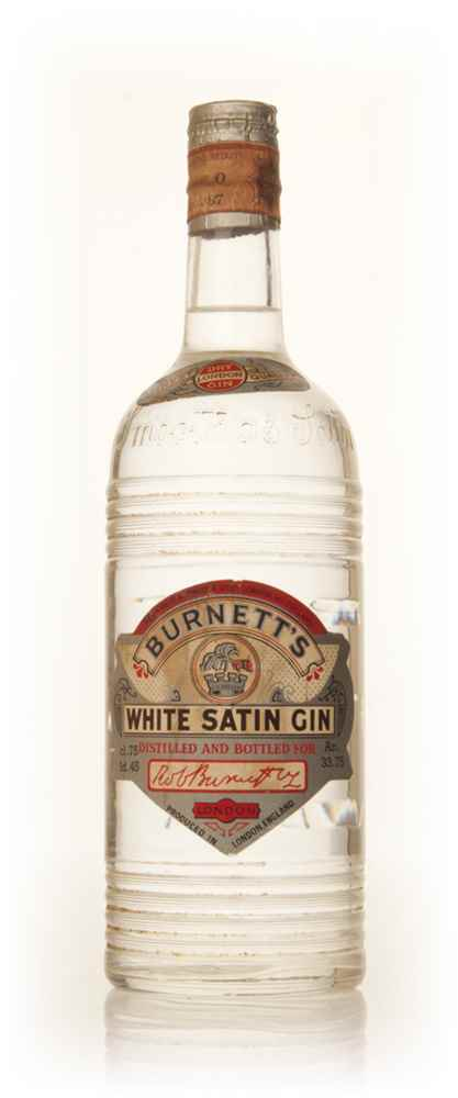 Burnett's White Satin London Dry Gin - 1950s