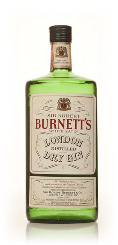 Burnett's White Satin London Dry Gin - late 1970s