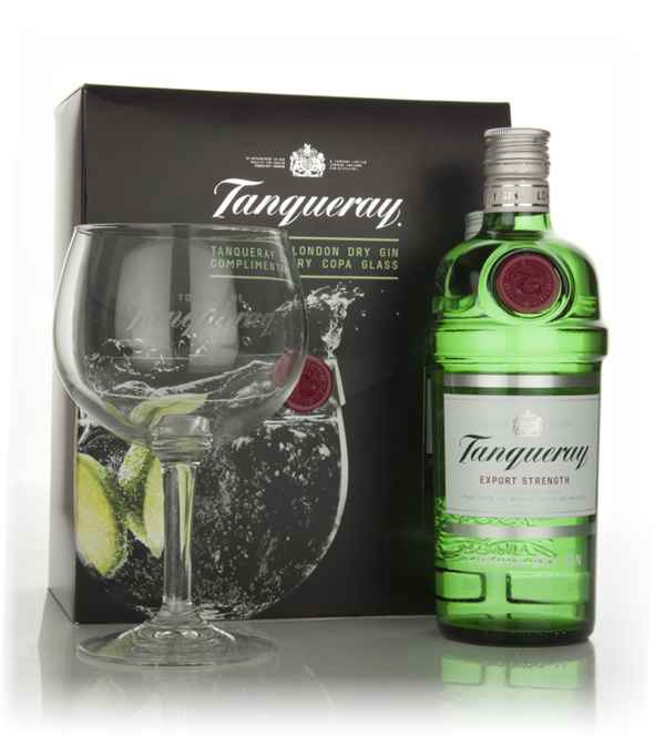 Tanqueray Export Strength with Copa Glass