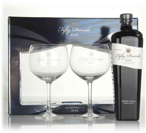 Fifty Pounds Gin Glass Gift Set
