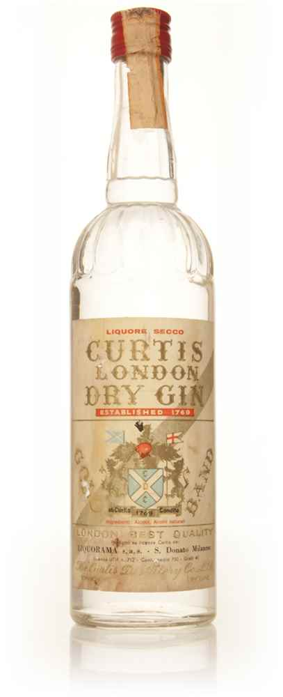 Curtis London Dry Gin - 1960s