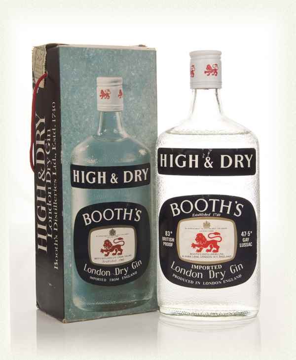 Booth's High & Dry London Dry Gin - 1960's Boxed