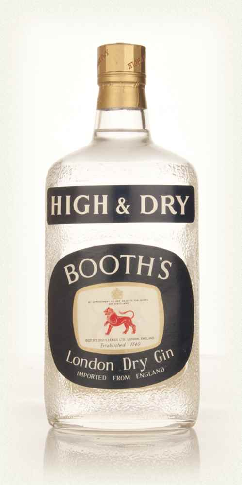 Booth's High & Dry London Dry Gin - 1960s