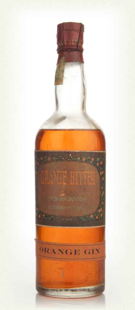 Herman Jansen Orange Bitter Gin - 1950s