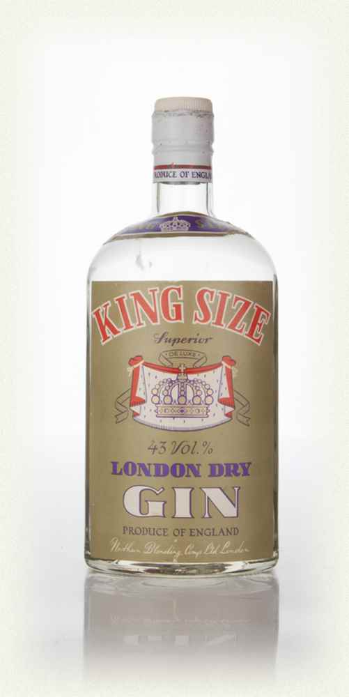 King Size London Dry Gin - 1960s