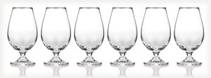 Master of Malt Set of Six Crystal Tasting Glasses