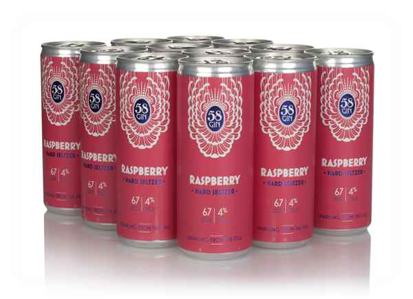 58 Gin Raspberry Hard Seltzer (12 x 250ml)