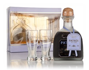Patrón XO Cafe Coffee Liqueur Gift Pack with 2x Glasses Liqueurs ...