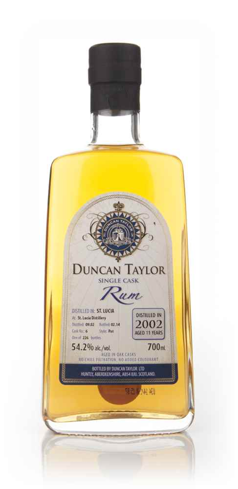 St Lucia 11 Year Old 2002 (cask 6) - Single Cask Rum (Duncan Taylor)