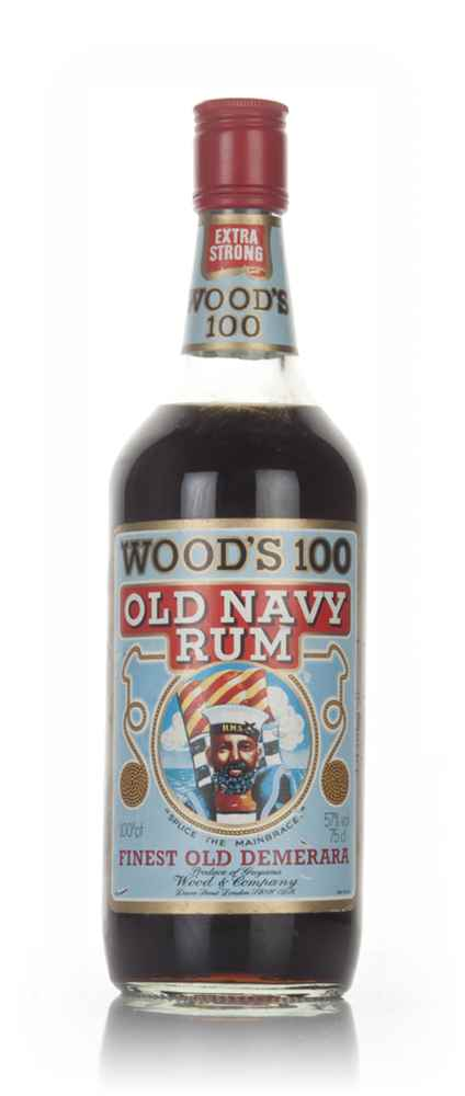 Wood's 100 Old Navy Rum (75cl) - 1980s