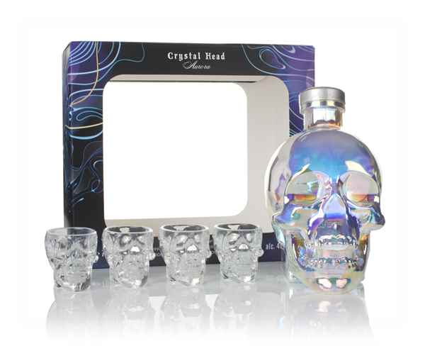 Crystal Head Vodka Aurora Gift Pack with 4x Glasses