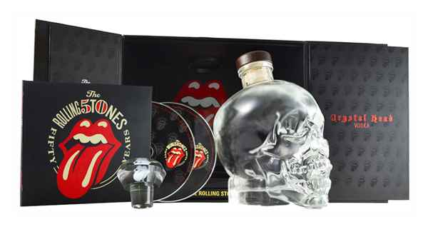 Crystal Head Vodka Rolling Stones 50th Anniversary Limited Edition Gift Pack