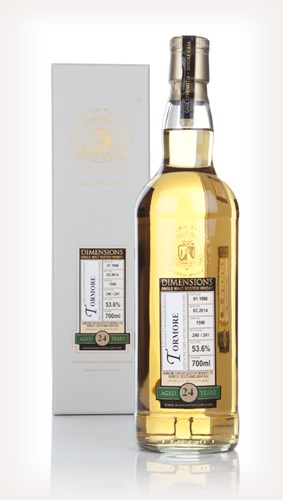 Tormore 24 Year Old 1990 (cask 1590) - Dimensions (Duncan Taylor)