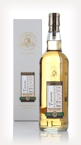 Tormore 25 Year Old 1989 (cask 2123) - Dimensions (Duncan Taylor)