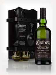 "Ardbeg 10 Year Old Escape Pack With 2 ""Shortie"" Glasses"