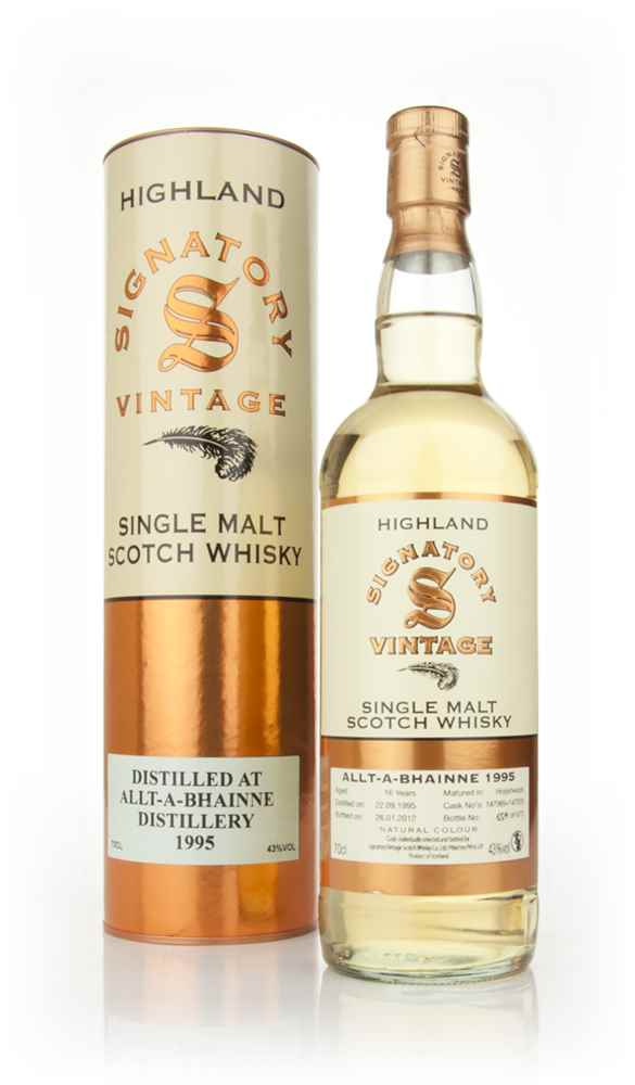 Allt-a-Bhainne 16 Year Old 1995 - Un-Chillfiltered (Signatory)