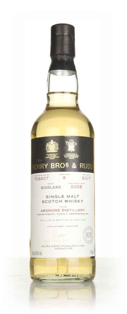 Ardmore 8 Year Old 2008 (cask 708607) - Berry Bros. & Rudd