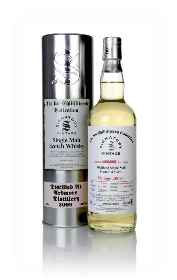 Ardmore 8 Year Old 2009 (casks 706322 & 706323) - Un-Chillfiltered Collection (Signatory)