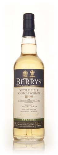 Auchroisk 14 Year Old 1998 (cask 13424) (Berry Bros. & Rudd)