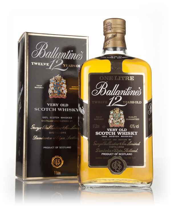Ballantine's 12 Year Old 1L - 1980s